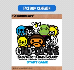 :chocoolate x Milo facebook game