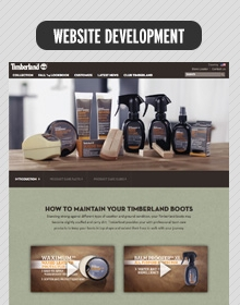Timberland – Product Care minisite