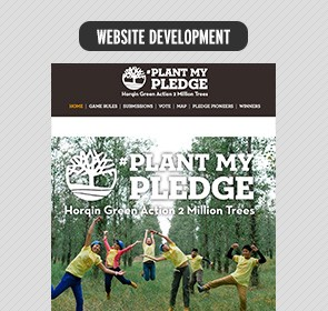 Timberland Plant my Pledge Minisite