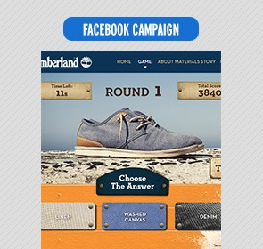 Timberland Material Challenge Facebook game